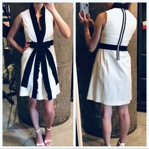 Alice + Olivia little white dress with black bow